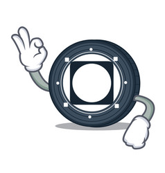 Okay byteball bytes coin character cartoon vector