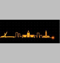 oklahoma city light streak skyline vector image
