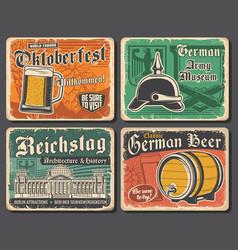 Oktoberfest beer and reichstag german travel vector