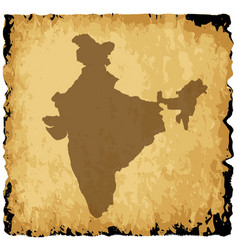 Old india map vector