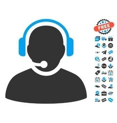 Operator icon with free bonus vector