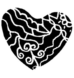 patterned heart drawing by vector image