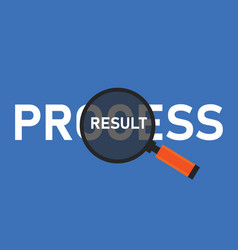 Process or result focus comparison in business vector