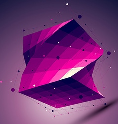 Purple geometric squared structure with wire mesh vector