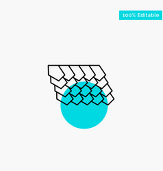 Rotile top construction turquoise highlight vector