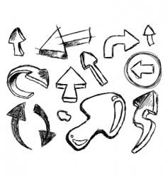 Set hand drawn arrows vector