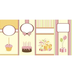 Set of celebration banners vector image