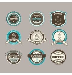 Set of retro coffee house shop badges labels vector image
