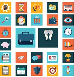 Set of various financial service items business vector image vector image