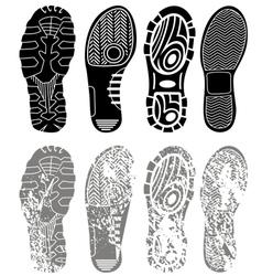 shoe print grunge vector image
