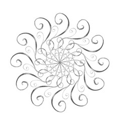 silver snowflake in oriental style vector image