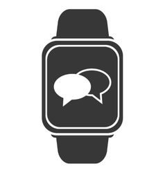 smart watch with conversation bubbles icon vector image