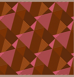 Strict geometry textured triangle seamless pattern vector