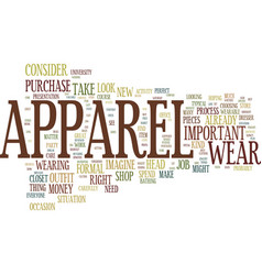 The perfect apparel text background word cloud vector