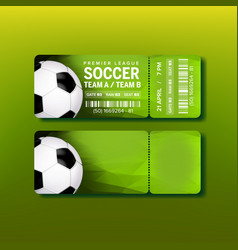 Ticket for final of premier league soccer vector