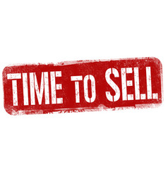Time to sell sign or stamp vector