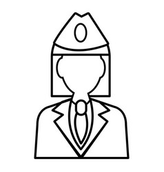 Train conductor icon outline style vector