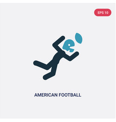 two color american football player catching the vector image