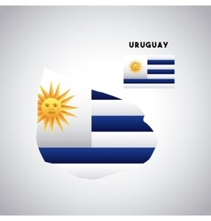 Uruguay country design vector
