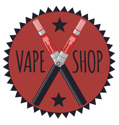 Vape shop icon and letters vector