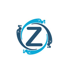 Water clean service abbreviation letter z vector