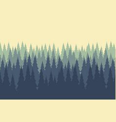Wild coniferous wood mist vector
