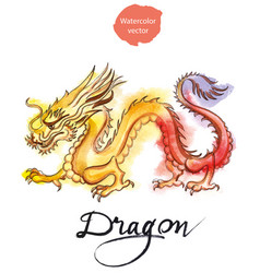 Yellow-red dragon vector