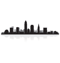Cleveland USA city skyline silhouette vector image vector image