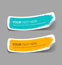 Colorful label paper brush stroke vector image vector image