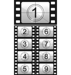 Film countdown vector
