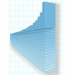 finance chart vector image