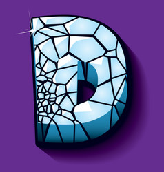 Ice font -letter D vector image