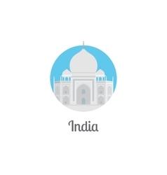 India landmark isolated round icon vector image vector image