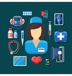 Medicine and healthcare vector image vector image