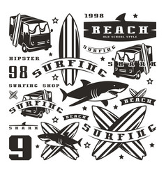 set of graphic elements vector image vector image