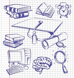 education set vector image
