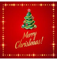 Flash christmas tree vector image vector image