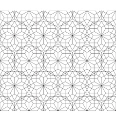 Floral seamless pattern with lines modern stylish vector image