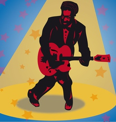 rock guitarist vector image