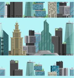 urban city outdoor landscape skyscraper house vector image