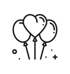balloon air balloon line heart icon love sign vector image