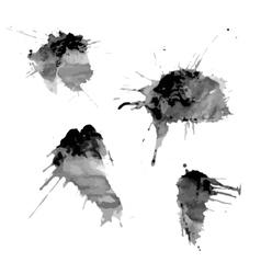 blots of ink spots vector image