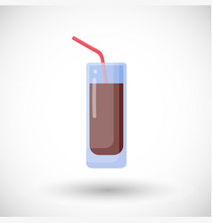 cola flat icon vector image
