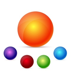 colorful glossy spheres vector image