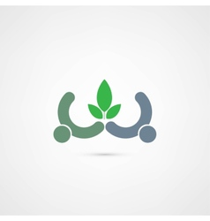eco people icon vector image