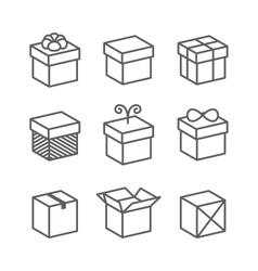 Gift Box Icons Holiday Presents vector image