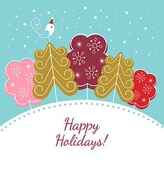 Happy holidays christmas card vector image