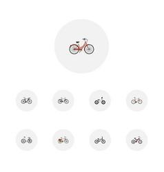 realistic timbered extreme biking equilibrium vector image