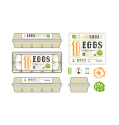 set of template labels for egg packaging vector image vector image