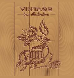 beer vintage style design vector image vector image